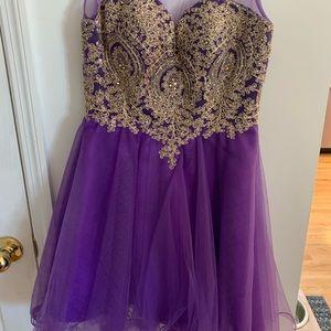 short purple sparkle dress!